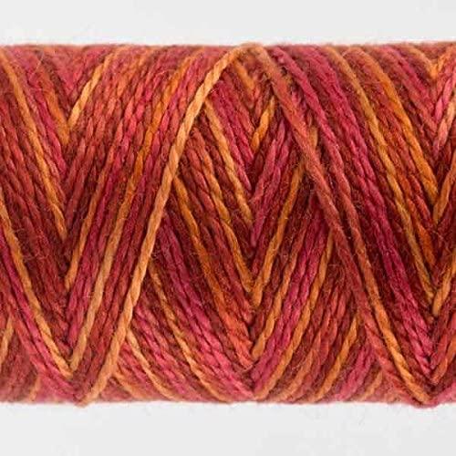 WonderFil Specialty Threads Sue Spargo Eleganza 2-ply #5 Perle Cotton Variegated, Wildfire #29