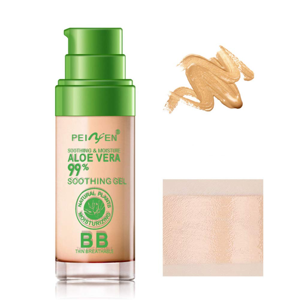 Ofanyia Aloe Vera Foundation Makeup BB Cream Concealer Moisturizing Cover Blemishes Long-lasting Waterproof Makeup Base BB Cream
