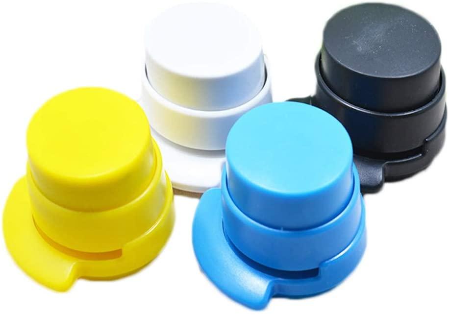 Clips HOT Sale Creative New Creative Office Staple Stapleless Stapler Paper Binding Binder Paperclip Random Color