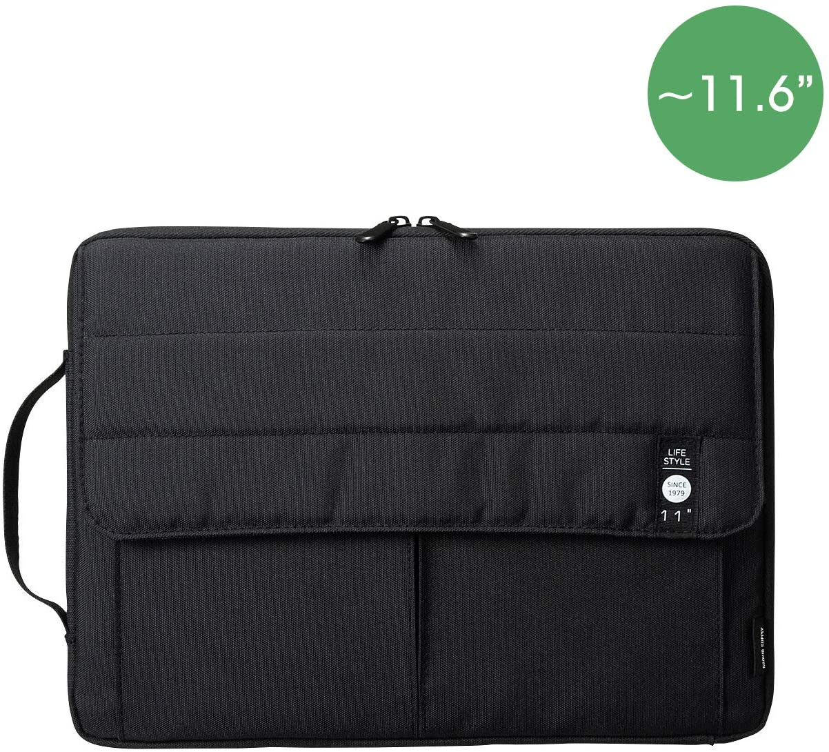 SANWA (Japan Brand) Laptop Computer Sleeve Case, Sleeve Bag Compatible with 11 inch MacBook Pro, MacBook Air, Pad,HP, Dell, Notebook Computer, Water Resistance Case Cover with Pocket, Blck