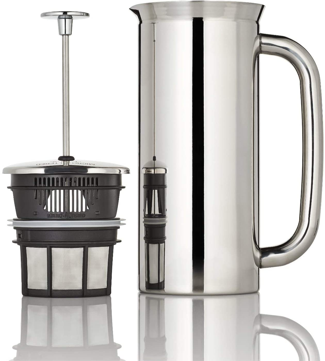 ESPRO P7 Double Walled Stainless Steel Vacuum Insulated Coffee French Press, 32 Ounce, Polished Stainless Steel
