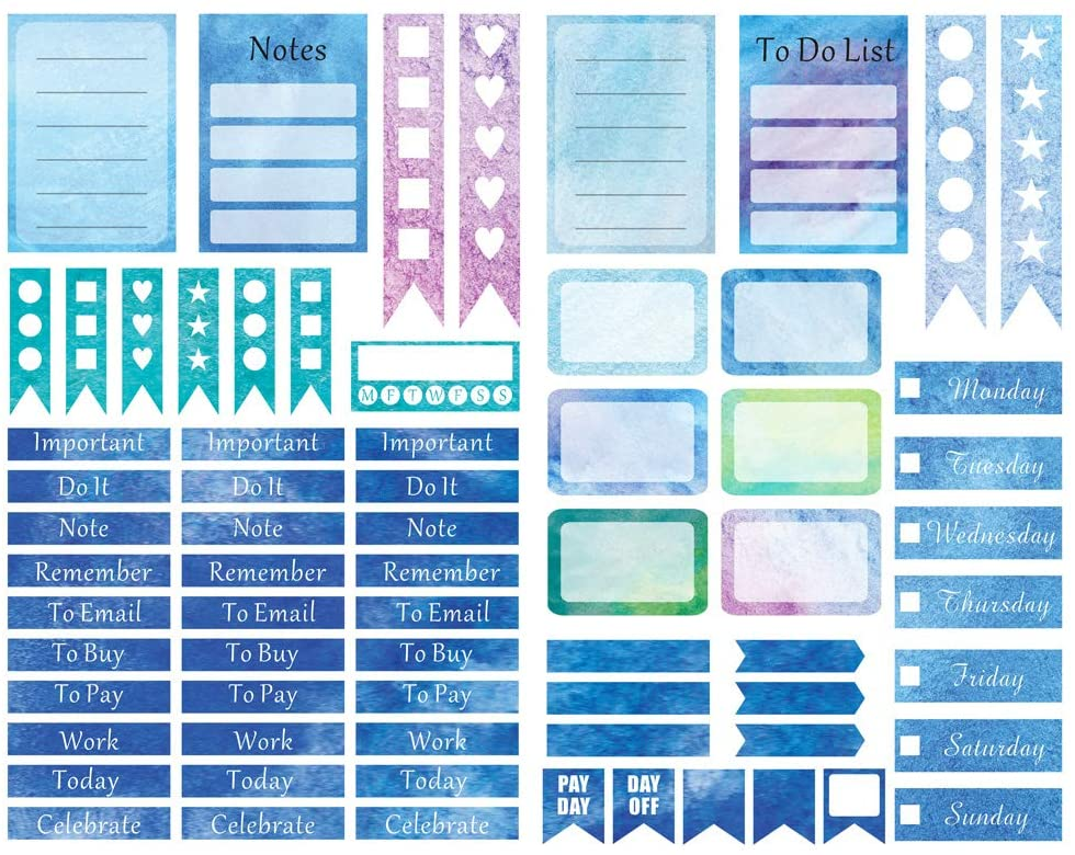Seasonstorm Blue Blogger Life Aesthetic Diary Travel Journal Paper Stickers Scrapbooking Stationery School Office Art Supplies
