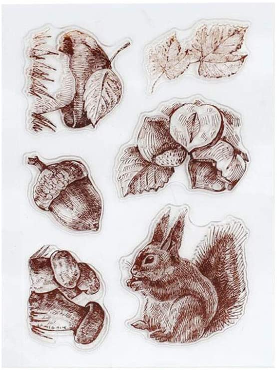 W-HELLO Squirrel Silicone Clear Seal Stamp DIY Scrapbooking Embossing Photo Album Decorative Paper Card Craft Art Handmade Gift