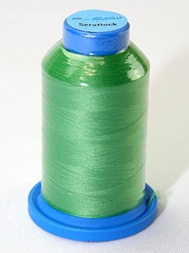 Mettler Seraflock Stretch Elasticated Sewing Thread 1000m 1000m 1099 Bright Green - each