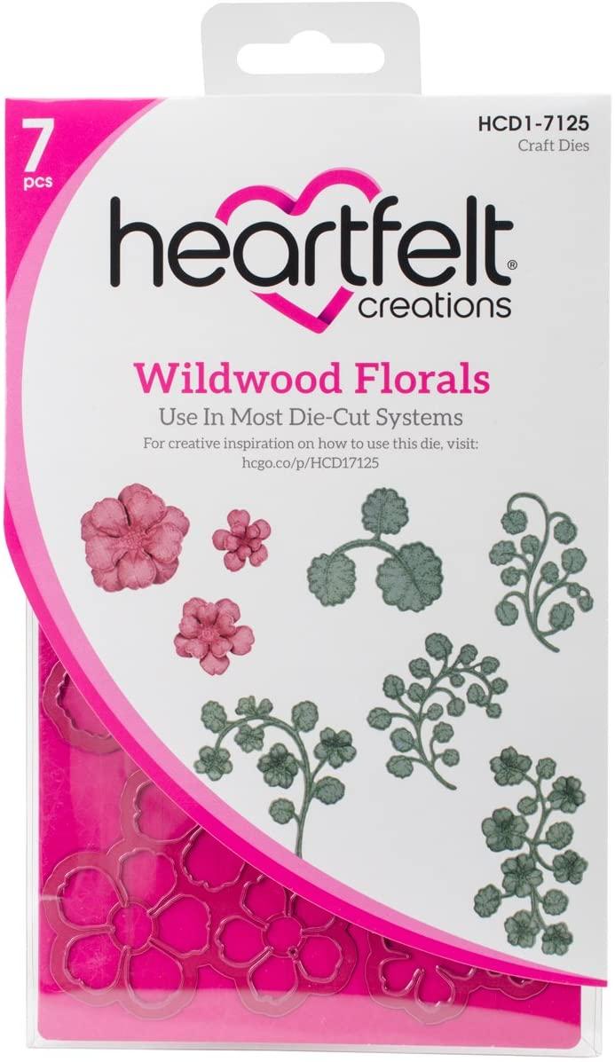 Heartfelt Creations Wildwood Florals 1.25 to 2.75 Emboss Dies