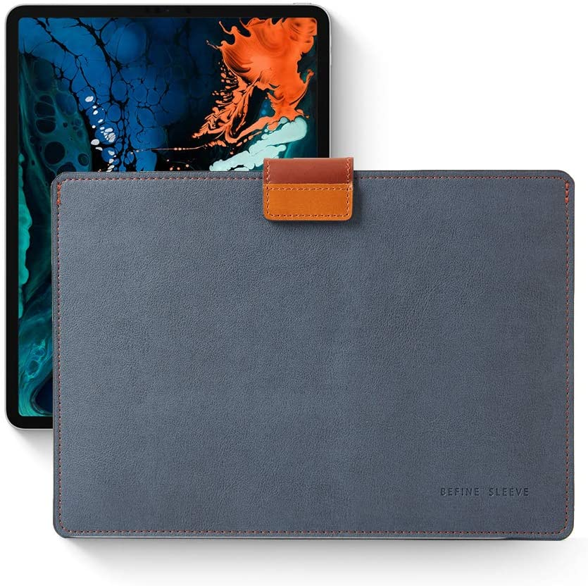 BEFINE - Apple MacBook Air&Pro 13' iPad Pro 12.9' Tasca Sleeve Edition - Handmade Premium Leather Sleeve case,Slim,Modern and Durable case (Navy)