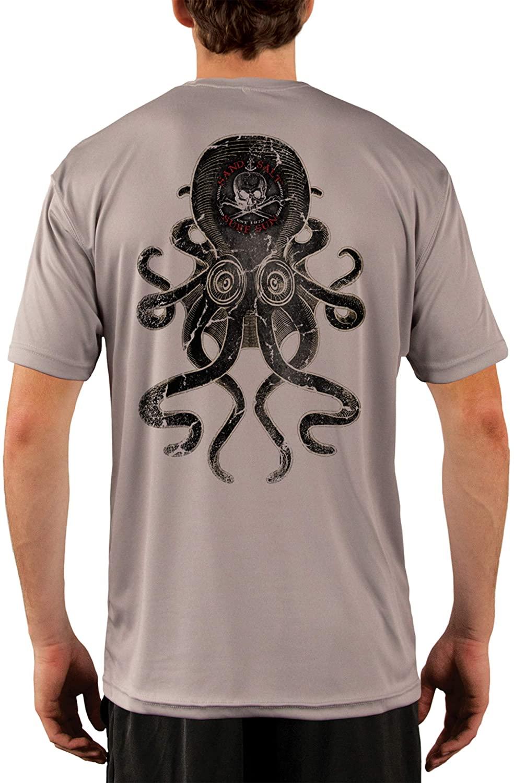 SAND.SALT.SURF.SUN. Vintage Kraken Men's UPF 50+ UV Sun Protection Performance Short Sleeve T-Shirt