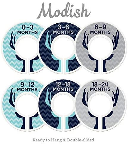 Modish Labels Baby Nursery Closet Dividers, Closet Organizers, Nursery Decor, Baby Boy, Deer, Antlers, Woodland