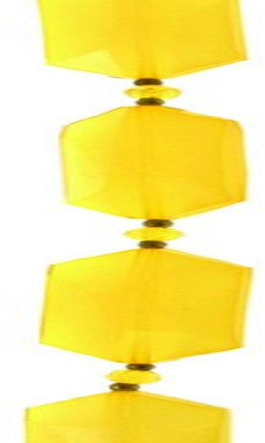 Sulyn 7in Bead Strand Large Angular, Soft Yellow for Craft and Jewelry-Making
