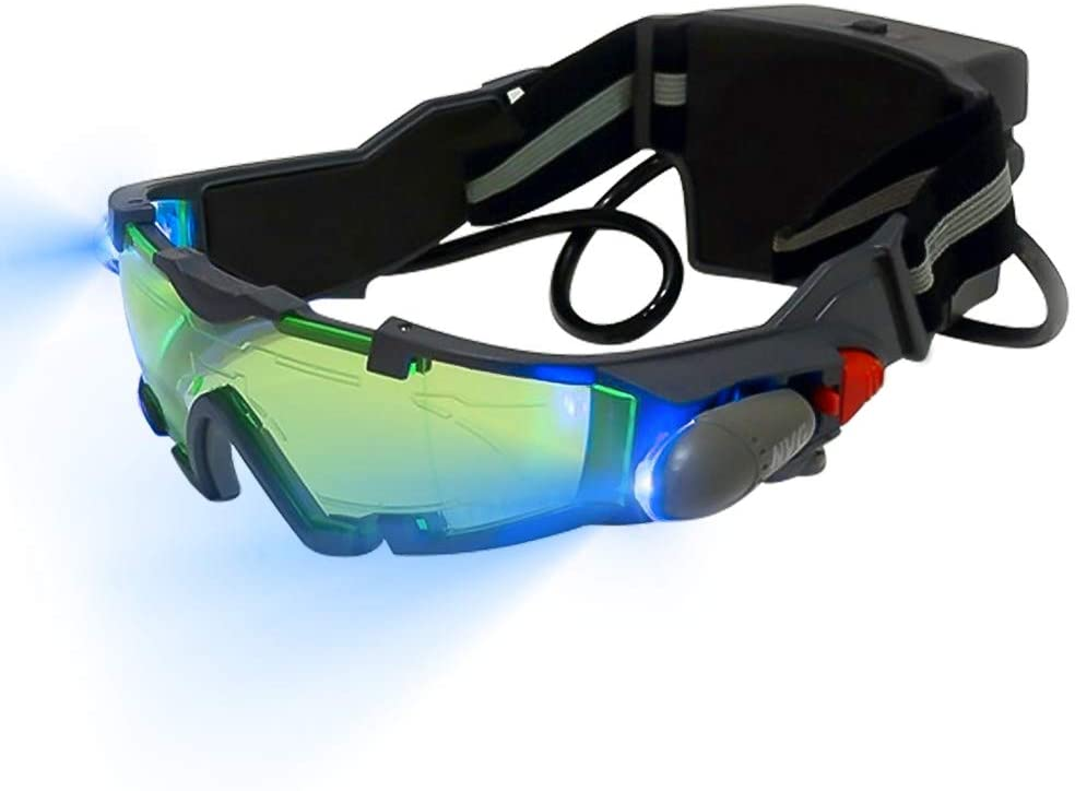 SOOTOP Adjustable Led Night Vision Safety Goggles with Flip-Out Lights Eye Lens Glasses for Eye Protection