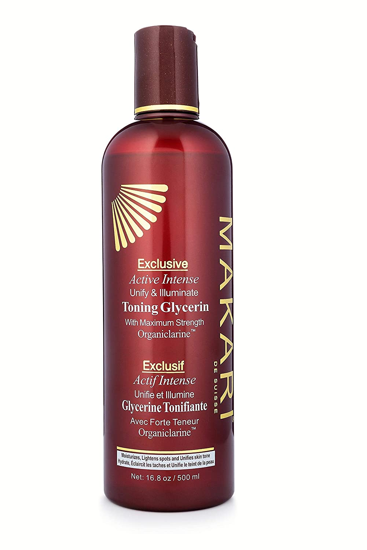 Makari Exclusive Active Intense Toning BODY Glycerin 16.8oz Skin Lightening & Brightening Moisturizer for Body with Organiclarine