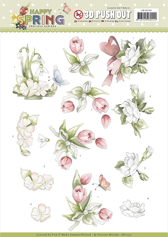 Precious Marieke Marieke PUNCHOUT SHT, us:one size, Flowers, Happy Spring