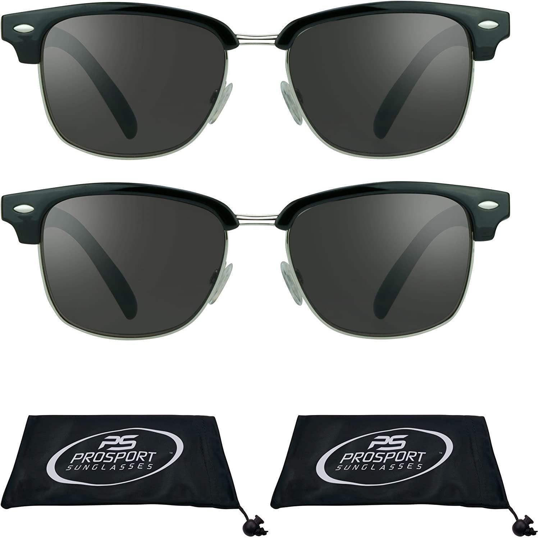 proSPORT Classic Reading Sunglasses with Round Horn Rimmed Plastic Frame for Men & Women - Not Bifocal
