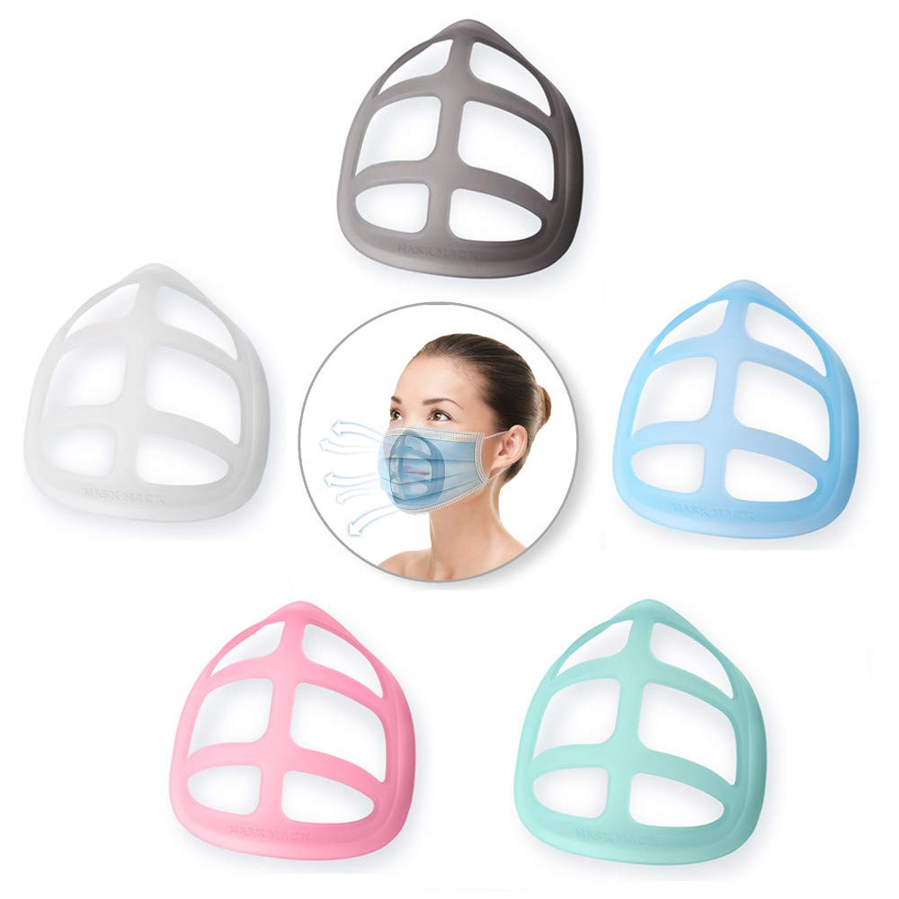 3D inner mask Silicone frame - make-up frame - Nose Mask Cushion - Shell Mask Sabage Mask Face - prevention of makeup loss Lipstick protection - washable reuse (Colorful)