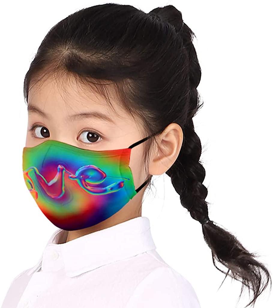 BATKKM Kids Fashion Washable Reusable Dustproof Bandanas,Comfortable,Lightweight, Breathable Balaclava,Ship in The US