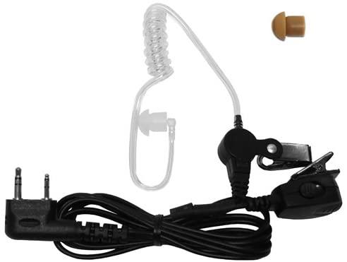 2 PIN Covert Acoustic Tube Earpiece for Kenwood ProTalk, 3101 FreeTalk XL