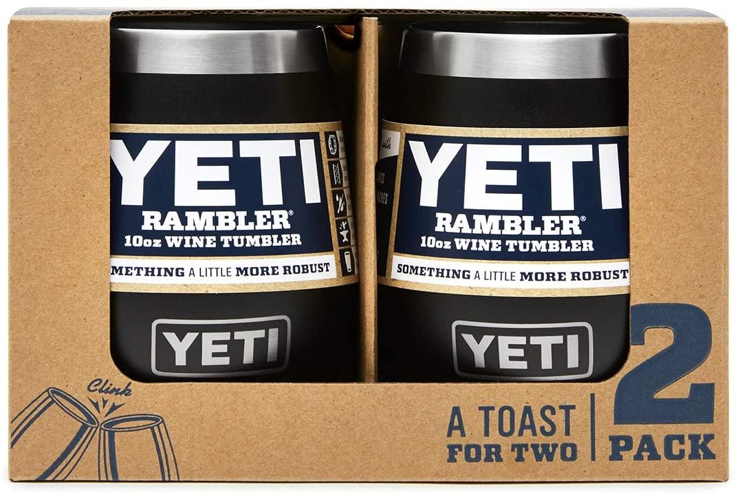 YETI Rambler 10 oz Wine Tumbler, Vacuum Insulated, Stainless Steel, 2 Pack