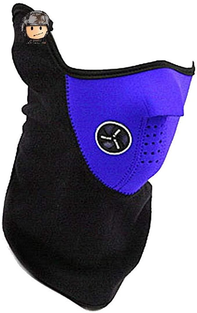 Winter Warm Fleece Balaclavas Ski Cycling Half Face Mask Cover Outdoor Sport Windproof Neck Guard Scarf