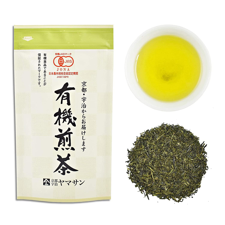 Green Tea leaves Sencha, JAS Certified Organic,Japanese Uji-Kyoto, 80g Bag 【CHAGANJU】…