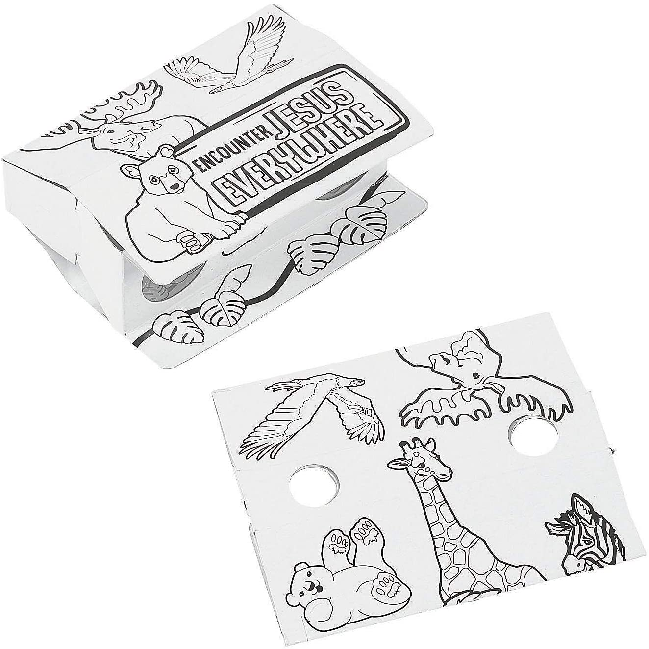 Wild Encounters Vbs Color Your Own Binoculars - Crafts for Kids and Fun Home Activities