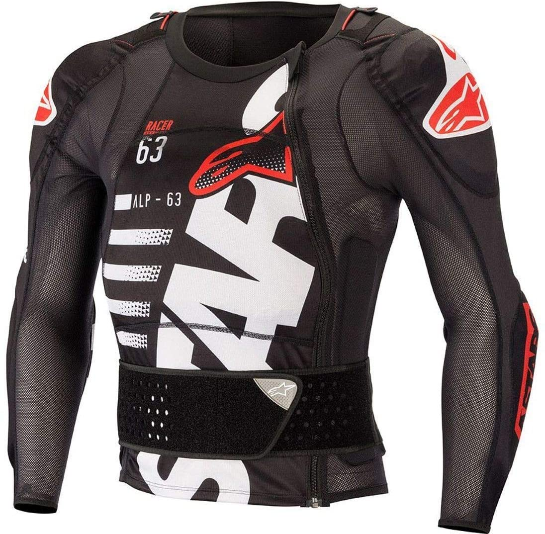 Alpinestars Men's Sequence Protection Motorcycle Jacket Long Sleeve, Black/White/Red, 2XL