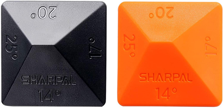 SHARPAL 196N Angle Pyramid Whetstone Knife Blade Sharpener Sharpening Stone Angle Guide 2-Pack, 4 Universal Angles-14°, 17°, 20°, 25°