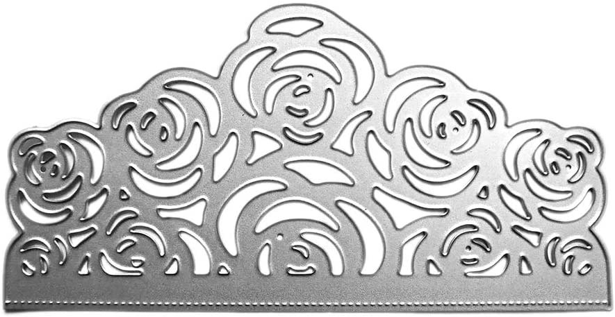 Sixinu Rose Flowers Metal Cutting Dies Stencil DIY Scrapbooking Album Stamp Paper Card Embossing Crafts Decor