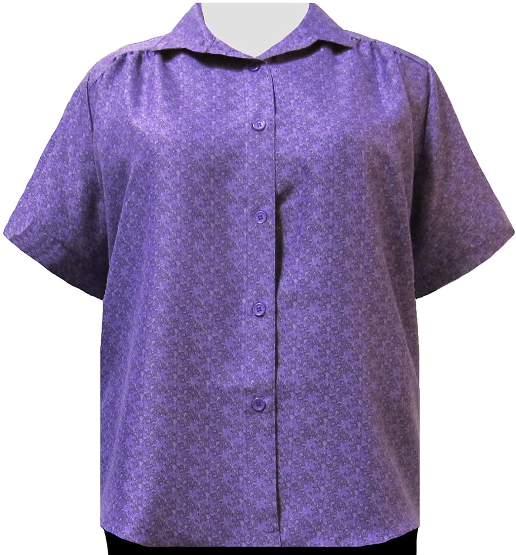 A Personal Touch Women's Plus Size Blouse Shirt Tail Hem Purple Cora