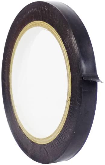 WOD VTC365 Black Vinyl Pinstriping Tape, 1/2 inch x 36 yds. for School Gym Marking Floor, Crafting, Stripping Arcade1Up, Vehicles and More