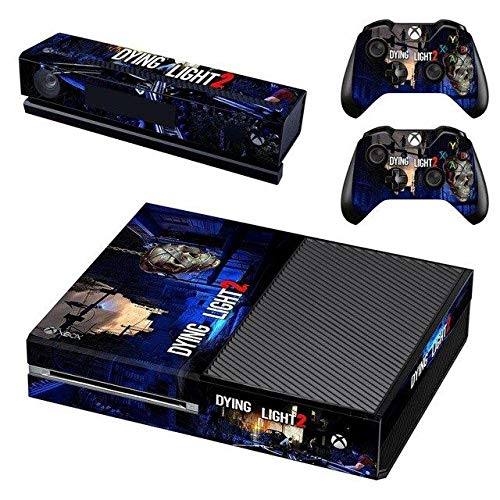 AMALA NAIDU Vinyl Skin Sticker Cover Decal for Microsoft Xbox One Console and Remote Controllers Zombie HD Printing