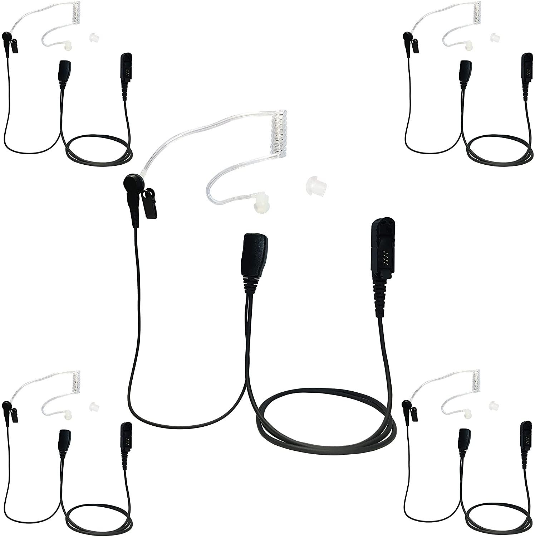 ProMaxPower Security Surveillance Covert Acoustic Tube Earpiece for Motorola DEP550 MTP3550 XPR3300e XPR3500e (5-Pack)