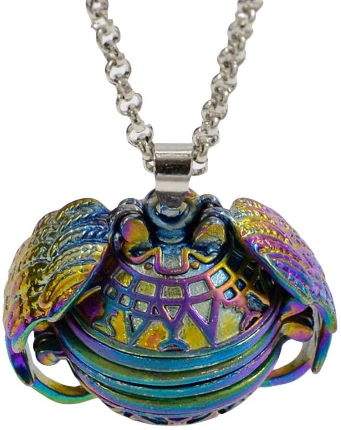 HOT!DIY Colorful Lace Necklace Collar Choker Victorian Vintage Gothic Chain Pendant Antique Photo Pendant Personalized Pocket Pendant Angel Wings Locket LUORATA (Mini Album, Jewerly Pendants)