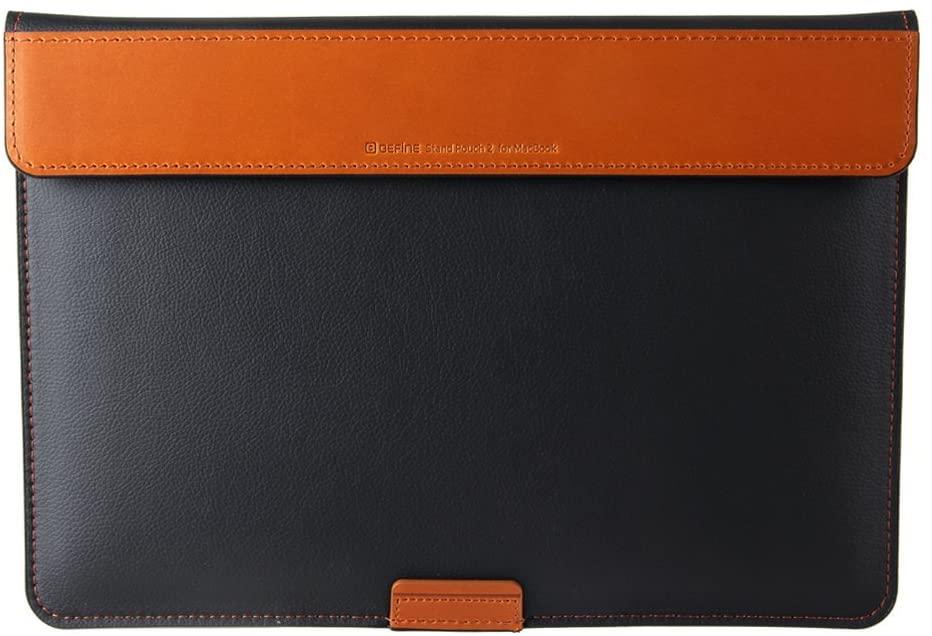 BEFINE - Micrisoft Surface Laptop3 15' & MacBook Pro 15' - Handmade Premium Leather Pouch case,Slim,Modern and Durable case (Black)