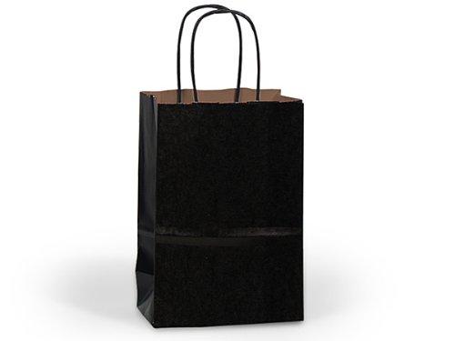 CUB BLACK 100% Recycled Kraft BagsBULK Shopping Bags 8x4-3/4x10-1/4