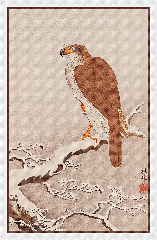 Orenco Originals Eagle Snow BranchAsian Ohara Shoson Counted Cross Stitch Pattern