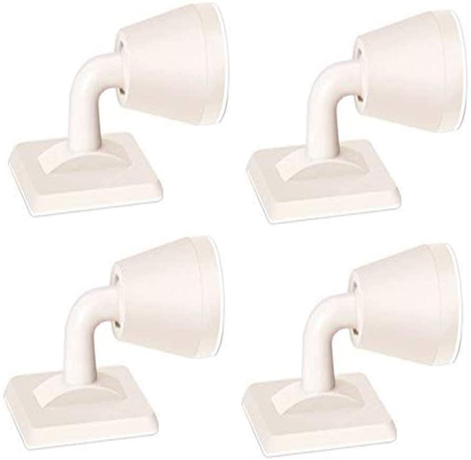 4pcs/Set Silicone Door Stopper,Non Punching Sticker Hidden Door Holders,Self Adhesive Door Stop Wall Protectors for Bedroom Office (White)