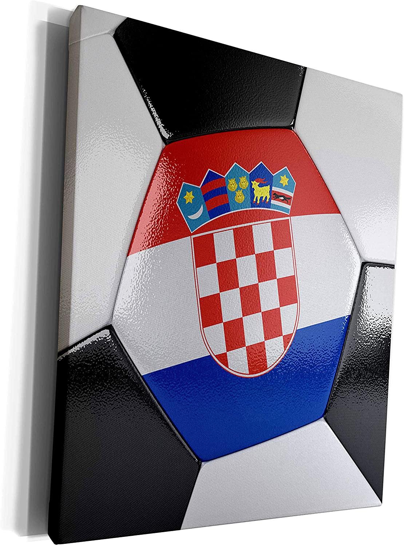 3dRose Carsten Reisinger - Illustrations - Croatia Soccer Ball - Museum Grade Canvas Wrap (cw_181217_1)