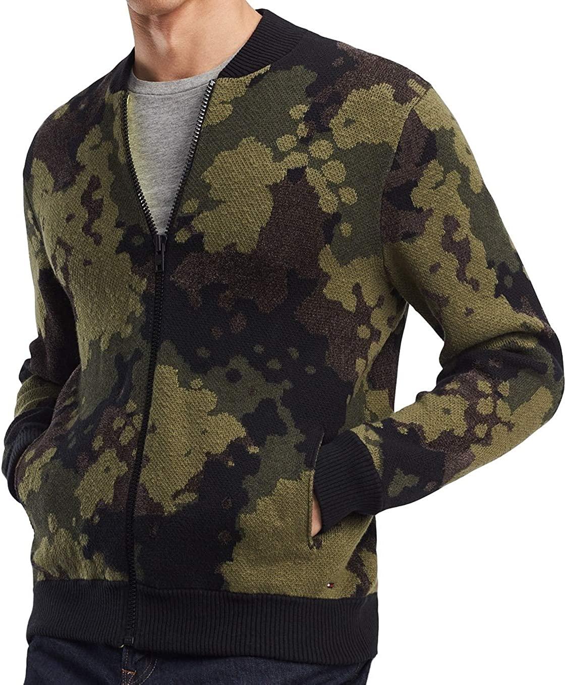 Tommy Hilfiger Mens Baseball Knit Sweater