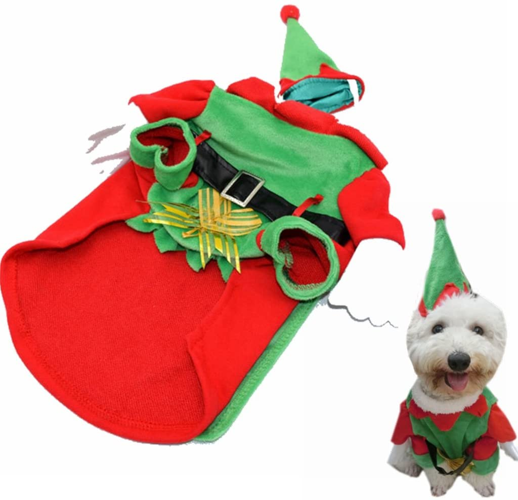 Visky Pet Santa Costume Christmas Cltohes Dog Winter Coat--M