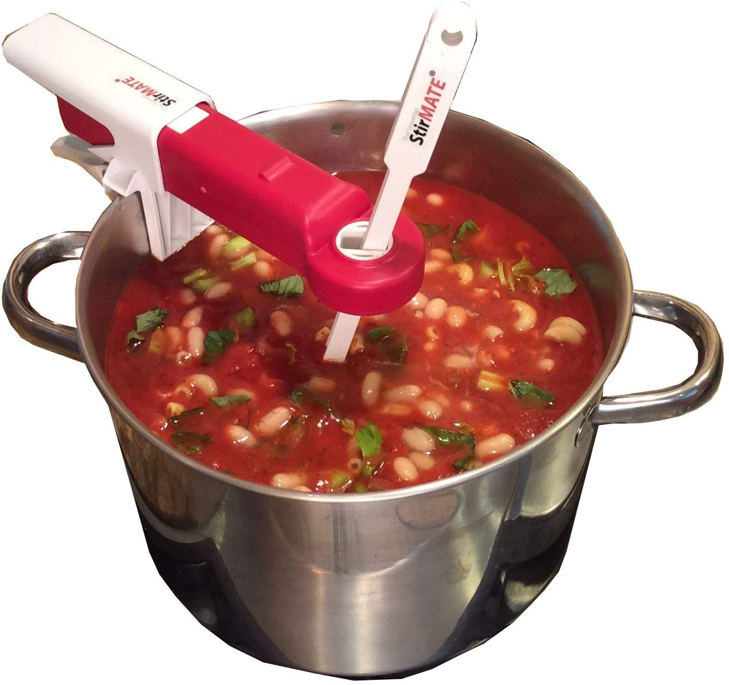 StirMATE Smart Pot Stirrer - Self-Adjusting, Powerful, Quiet, Cordless