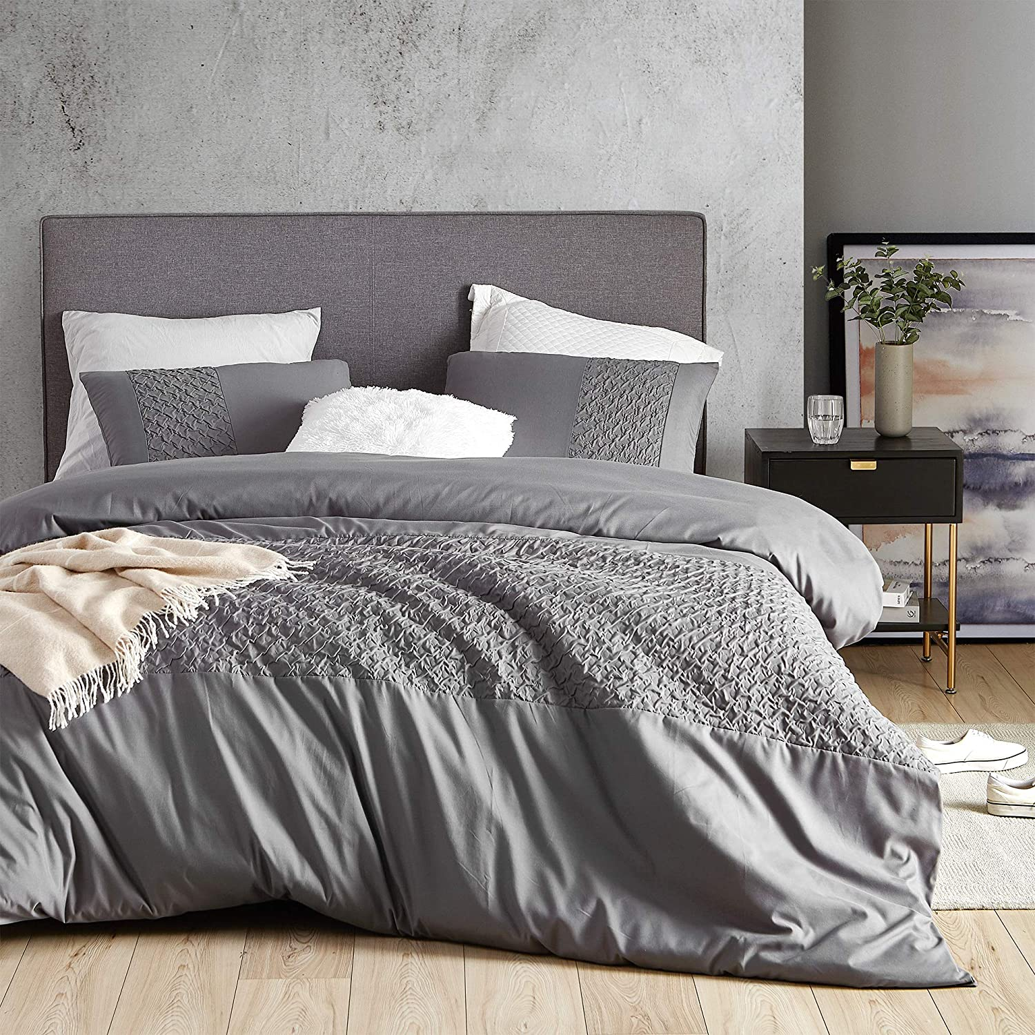 Byourbed Cirrus Gray Twin Duvet Cover - Oversized Twin XL