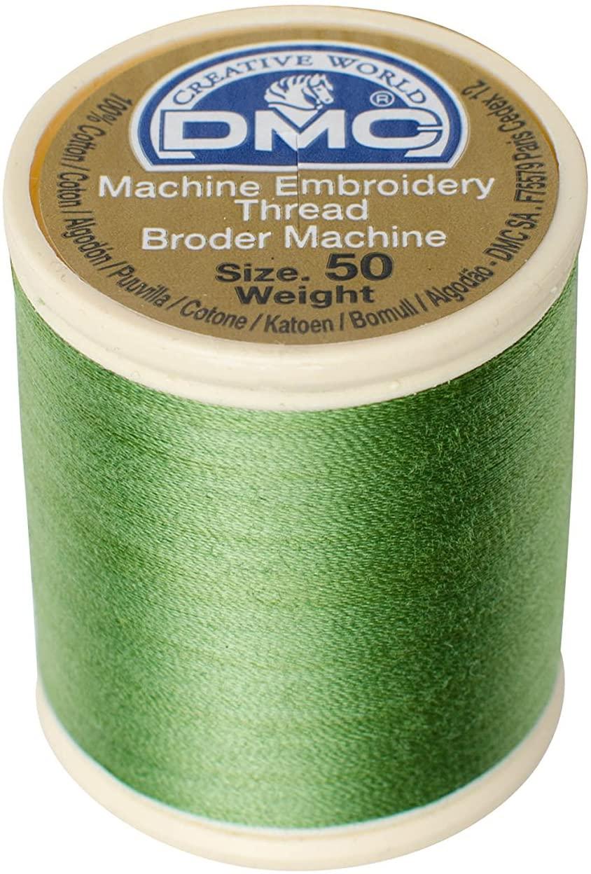 DMC 237A-503347 Cotton Embroidery Thread 50WT 547Yds Medium Yellow Green