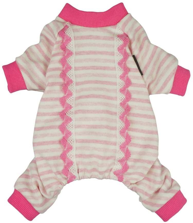 Fitwarm Pet Clothes for Dog Pajamas Cat Shirts Jumpsuits Apparel Cotton Pink