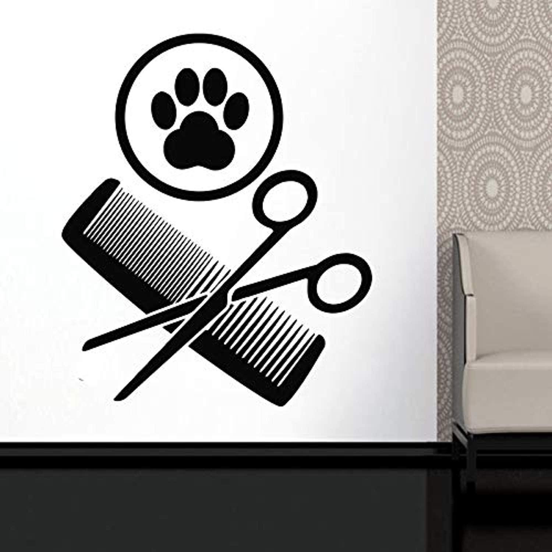 ElegantDecal Pet Grooming -Pet Care -Pet - Grooming Salon -Wall Decal.Window Sticker -Hairda 1573