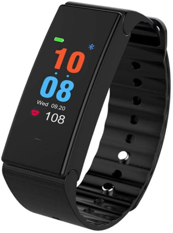 Atoplab IP67 Waterproof Fitness Trackers, Smart Wristband, Pedometer, Heart Rate, Blood Pressure Monitor and Group Care (Black)