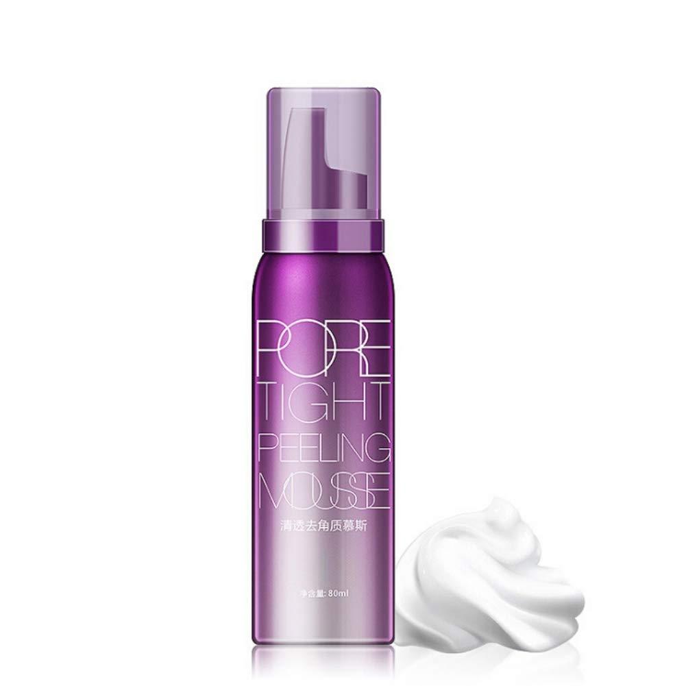 Exfoliating Foaming Mousse,Pore Tight Peeling Mousse Deep Cleansing Gentle Exfoliation Remove Acne Blackhead Tighten Moisturizer Facial Cleanser,2.7 fl.oz/80ml
