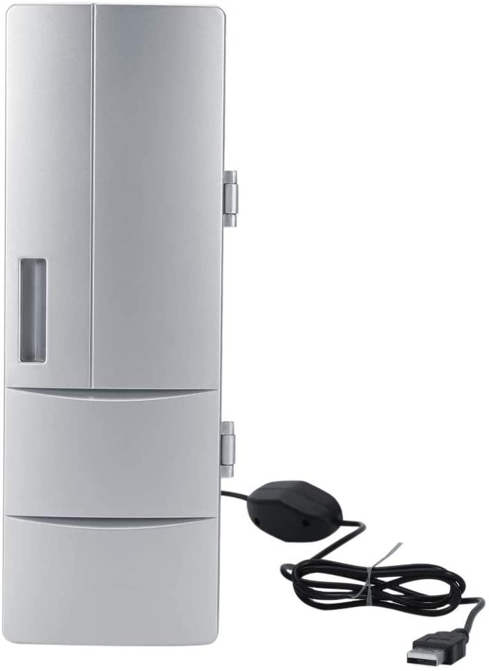 Nikou Mini Fridge - USB Fridge Refrigerator Freezer Compact Cans Drink Beer Cooler Warmer Travel Car Office Use