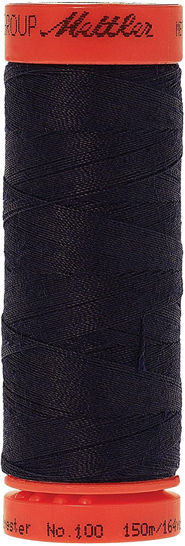 Mettler Metrosene 100% Core Spun Polyester Thread, 165 yd, Dark Blue