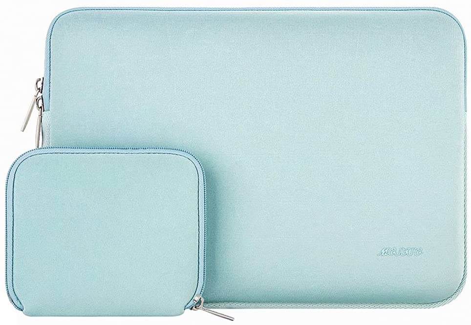 MOSISO Laptop Sleeve Compatible with 11.6-12.3 inch Acer Chromebook R11/HP Stream/Samsung/Lenovo/ASUS/MacBook Air 11/Surface Pro X/7/6/5/4/3, Water Repellent Neoprene Bag with Small Case, Mint Green