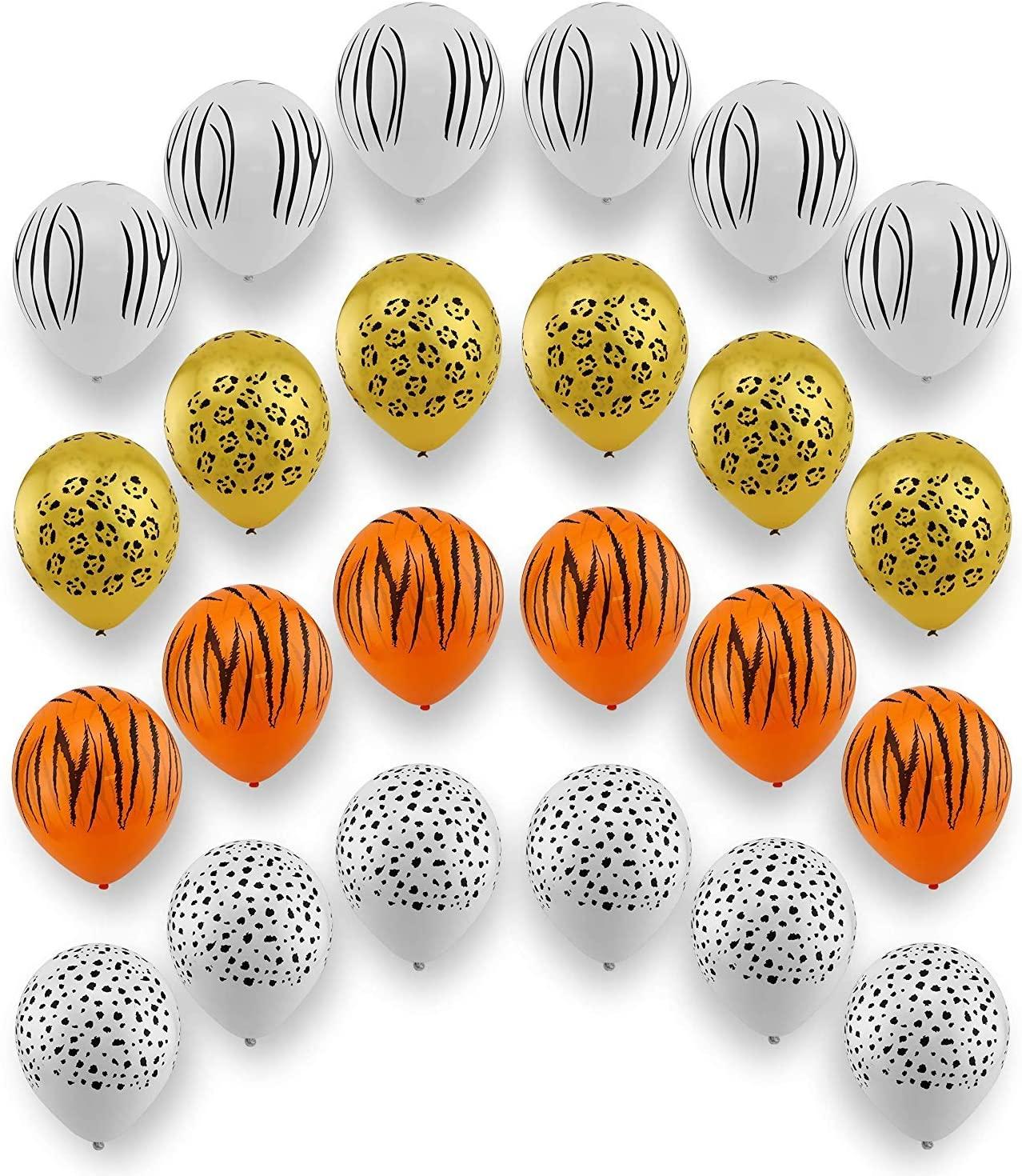 24 Pack Jungle Safari Animal Balloons Safari Zoo Animals Party Supplies Jungle Birthday Party Birthday Decorations